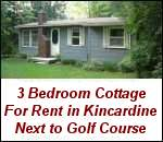 Cottage for rent in Kincardine